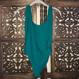 TEAL ONE PIECE BATHING SUIT